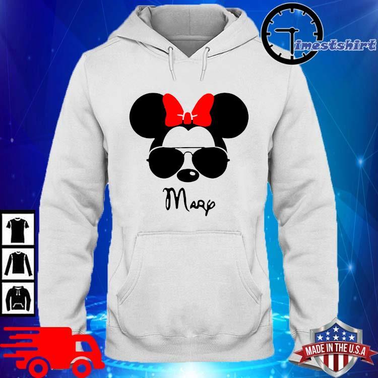 Mickey Mouse Head Mary Shirt hoodie trang