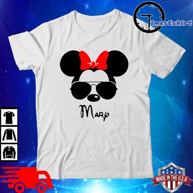 Mickey Mouse Head Mary Shirt