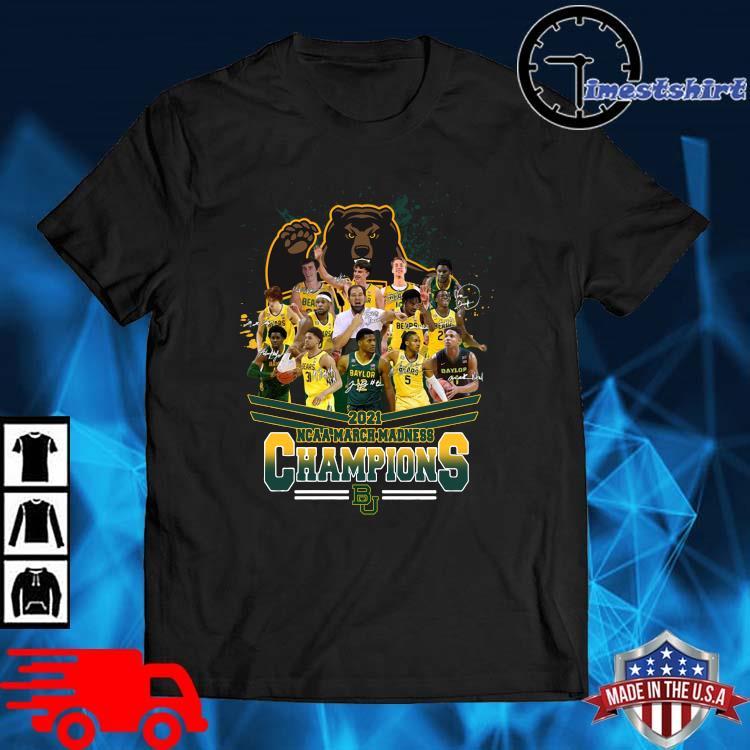 2021 NCAA March Madness Champions Baylor University Signatures shirt