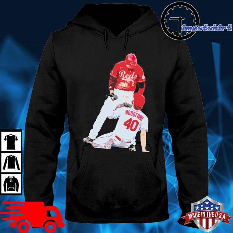 Cincinnati Reds Nick Castellanos Vs Cardinals Jake Woodford Shirt hoodie den