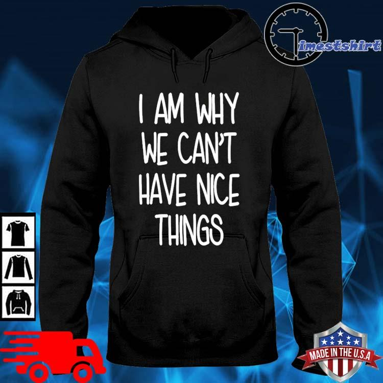 I am why we can't have nice things hoodie den