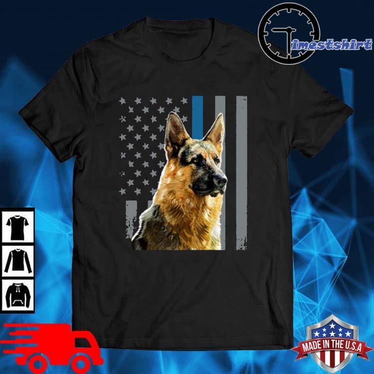 Patriotic Dog German Shepherd American Flag Shirt